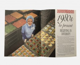 Corporate Company History Book Design - Sky Chef - Zielinski Design Associates Spread 3