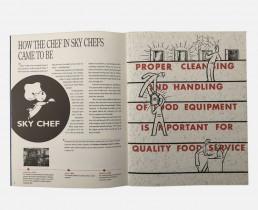 Corporate Company History Book Design - Sky Chef - Zielinski Design Associates - Spread 1