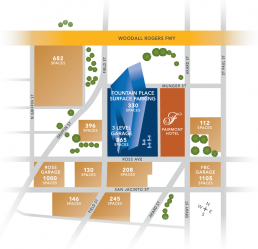 Fountain Place - Dallas, Texas - Info Graphic Design - Zielinski Design Associates