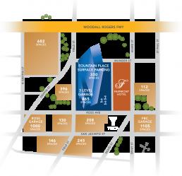 Fountain Place - Dallas, Texas - Info Graphic Design - Zielinski Design Associates