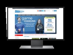 Tennis Equipment E-Commerce Website, BigCommerce Web Design - Zielinski Design Associates