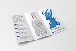 Southwest Pain Group Trifold designed by Zielinski Design Associates in Dallas, Texas