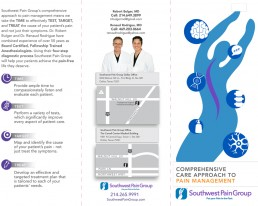 Southwest Pain Group - Brochure Design - Zielinski Design Associates - Dallas, Texas