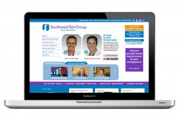 Southwest Pain Group - Web Design - Zielinski Design Associates - Dallas, Texas