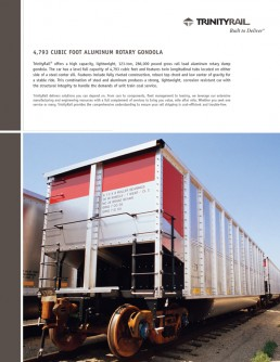 Trinity Rail - Brochure and Collateral Design - Zielinski Design Associates - Dallas, Texas