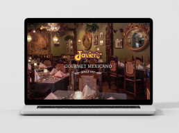 Javier's Gourmet Mexicano - Website Design by Zielinski Design Associates