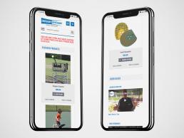 Tennis Equipment E-Commerce Website, BigCommerce, Mobile Responsive - Zielinski Design Associates